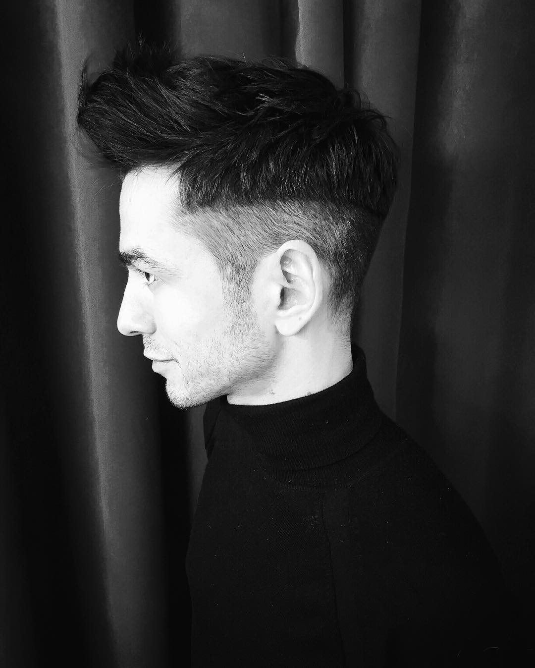 Black Low Fade Hawk Hairstyle