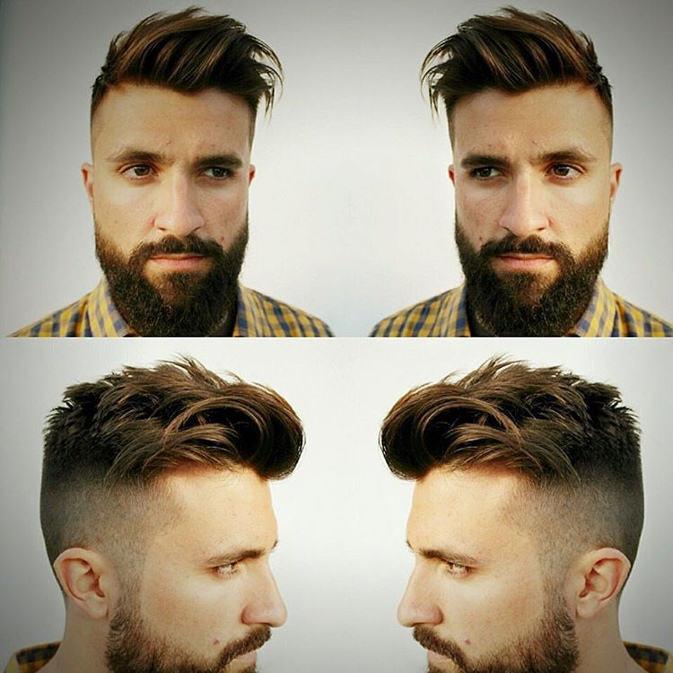 High Raise Faux Hawk HairCut Design.