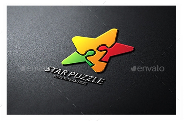 Colorful Puzzle Logo for Business
