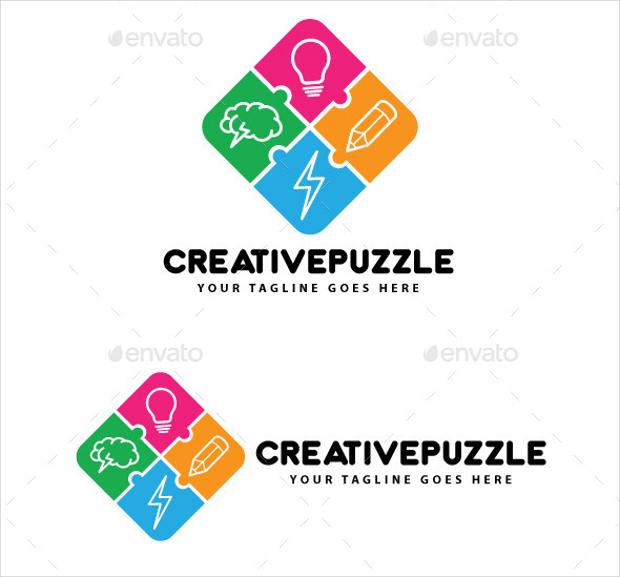 Creative Puzzle Logo