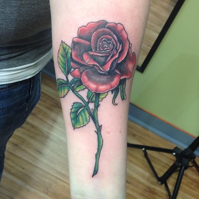 Beautiful Rose Tattoo Design