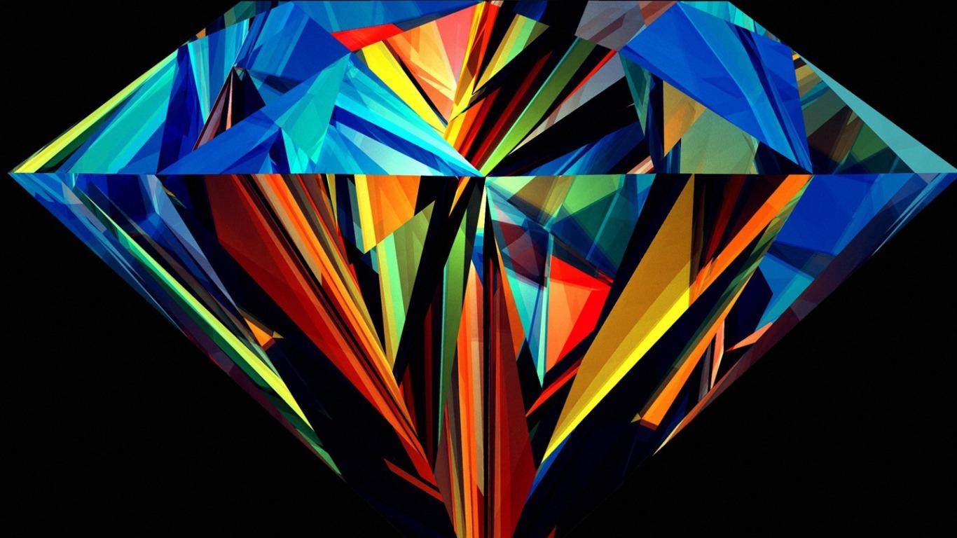 Multicoloured Diamond Wallpapers