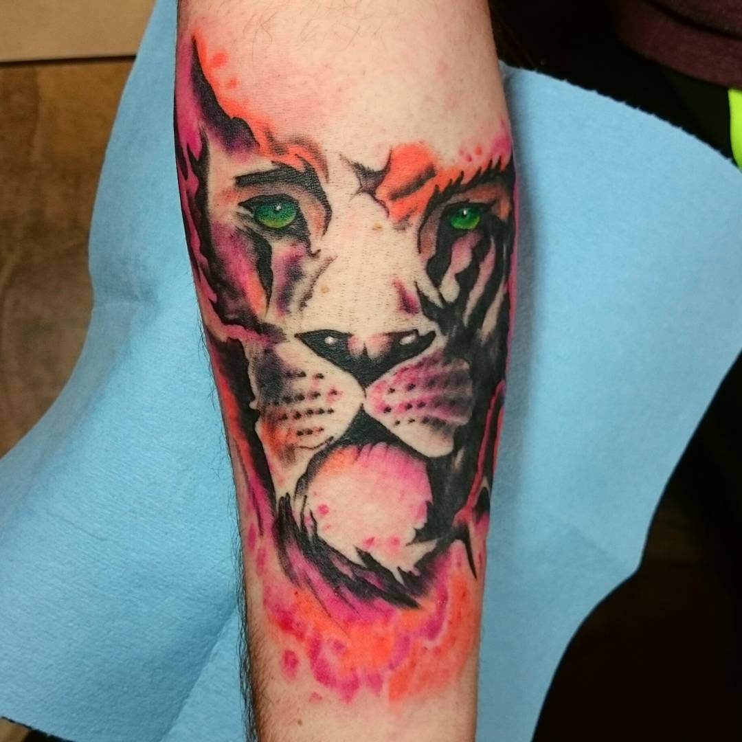 Colorful Lion Tattoo Tattoo Tattooed Tattoos: 27+ Forearm Tattoo Design, Ideas