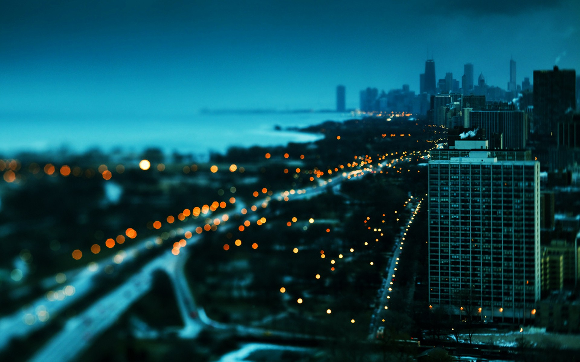 tilt shift city wallaper