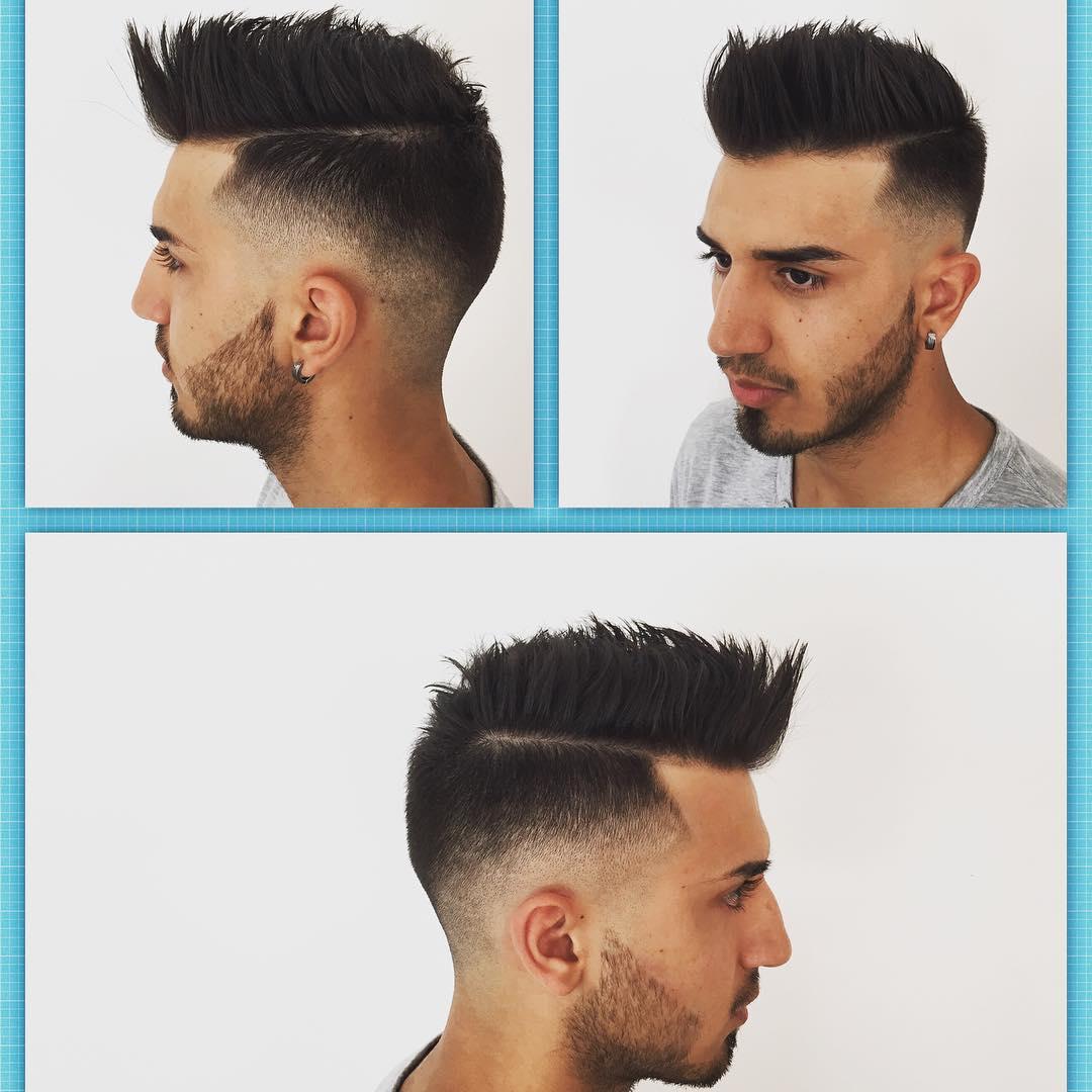Classy Black Faux Hawk Hairstyle Idea