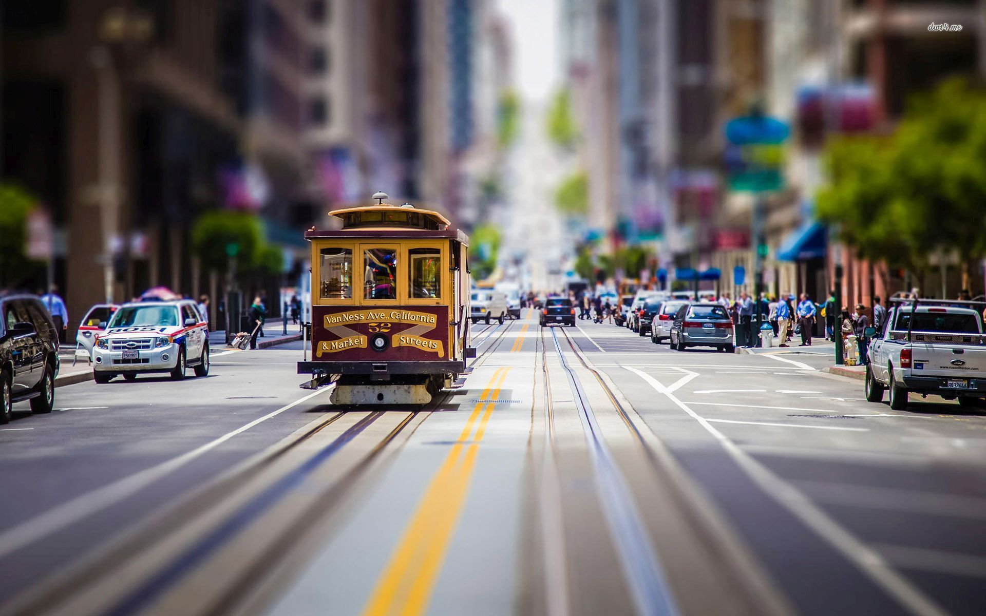 San Francisco Tilt Shift Background