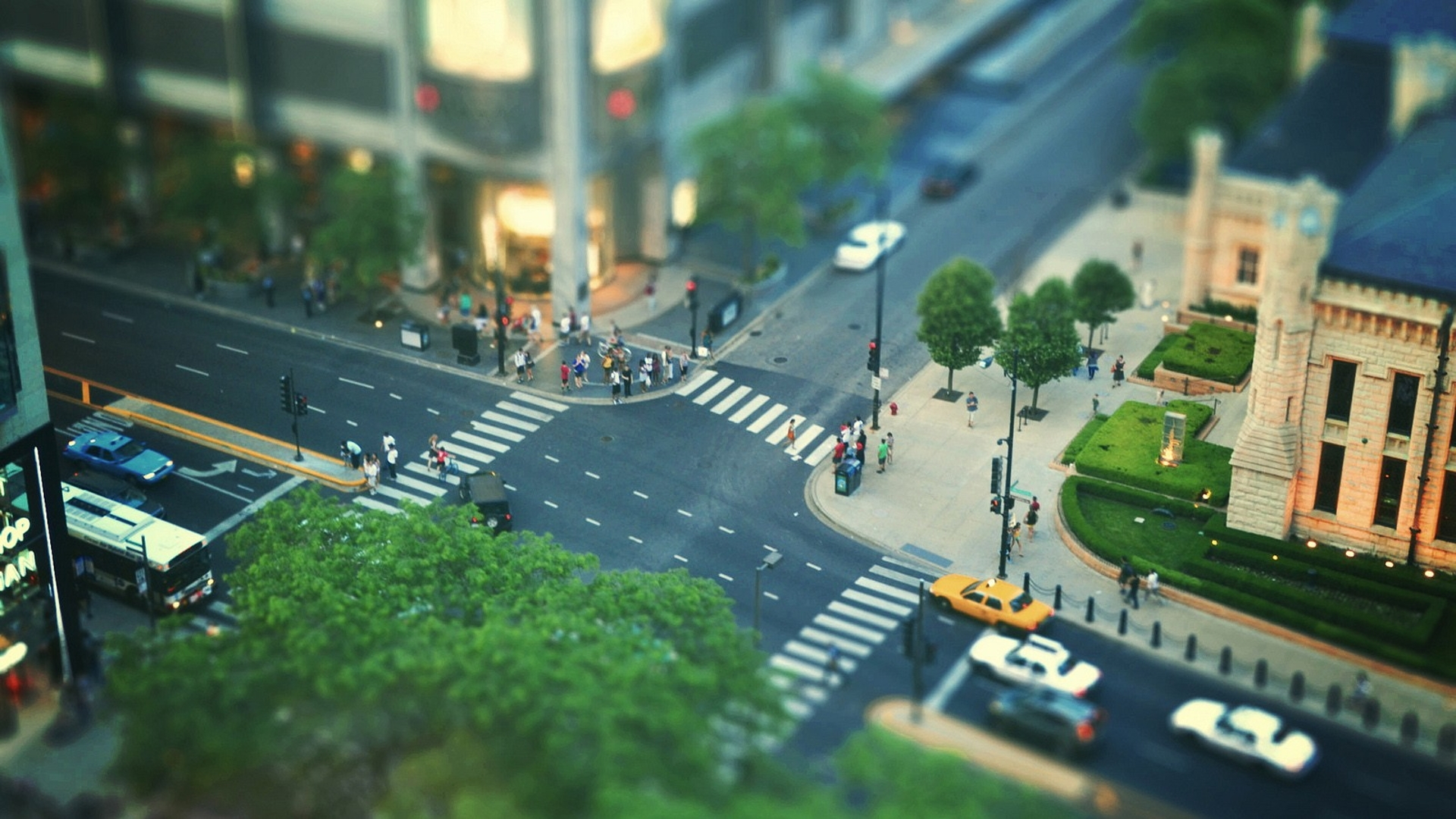 miniature tilt shift image