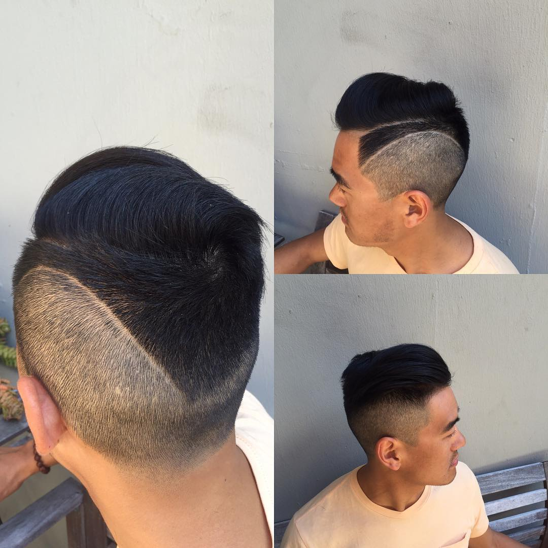 High Fade Side Swepted Haircut Style