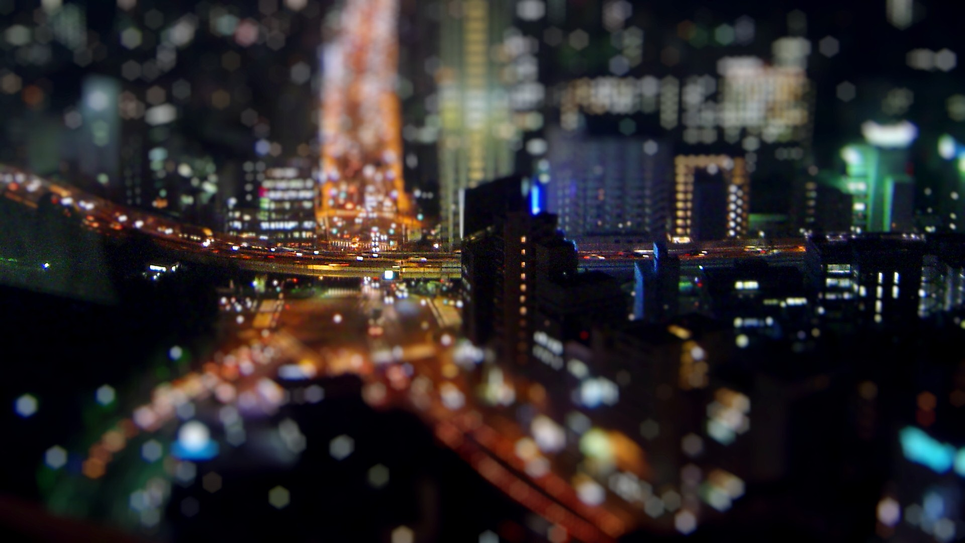 tilt shift computer background