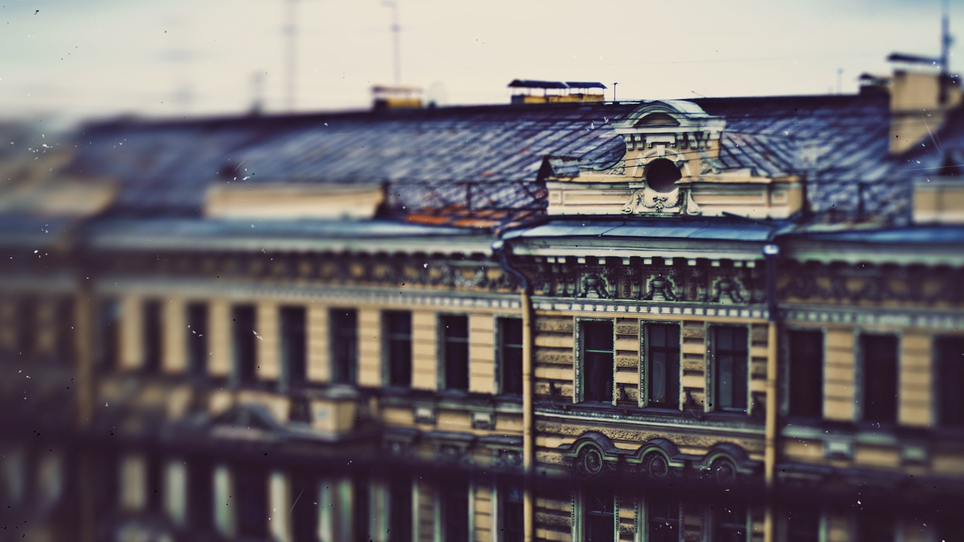 tilt shift building wallpaper