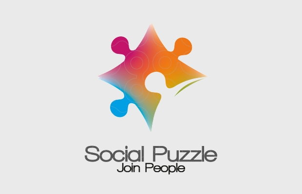 Colorful Puzzle Piece Logo