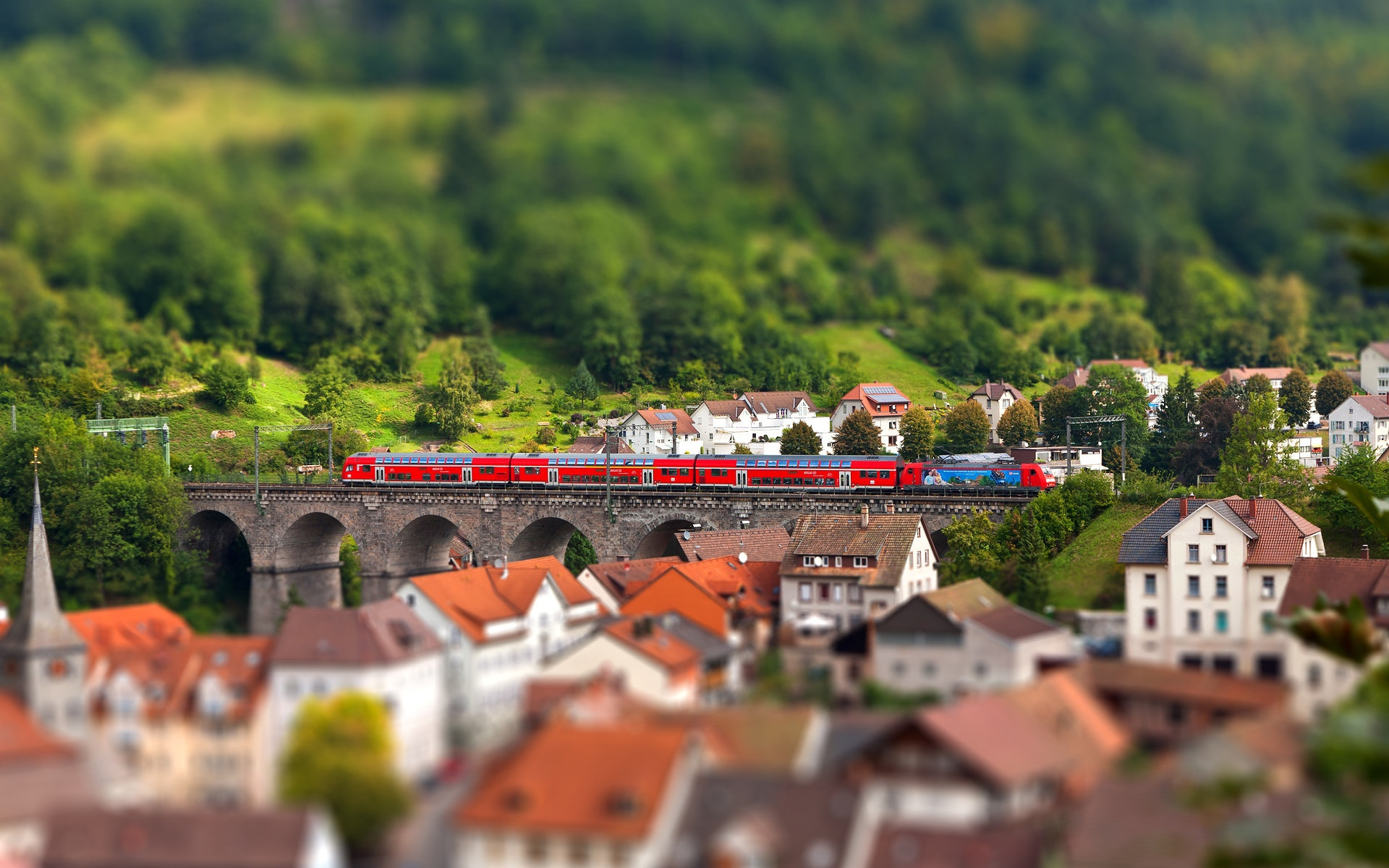 tilt shift europe wallpaper