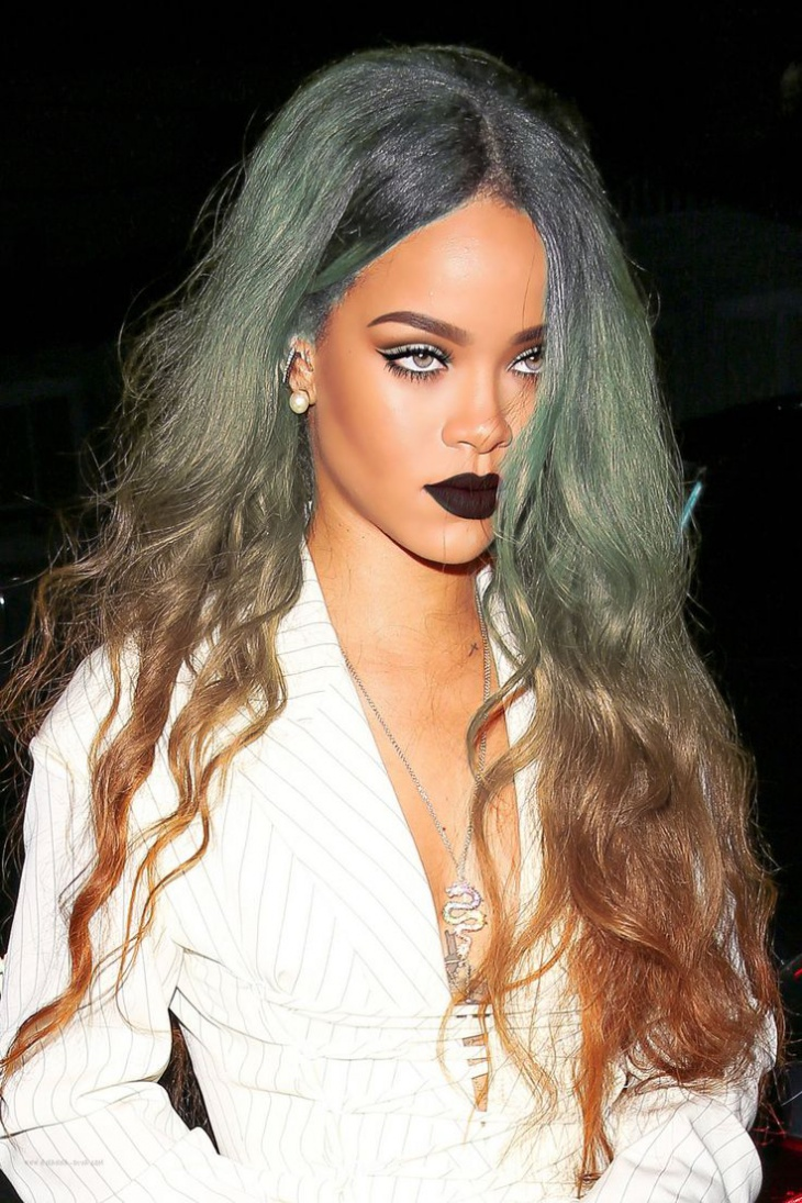 Rihanna Rainbow Hair