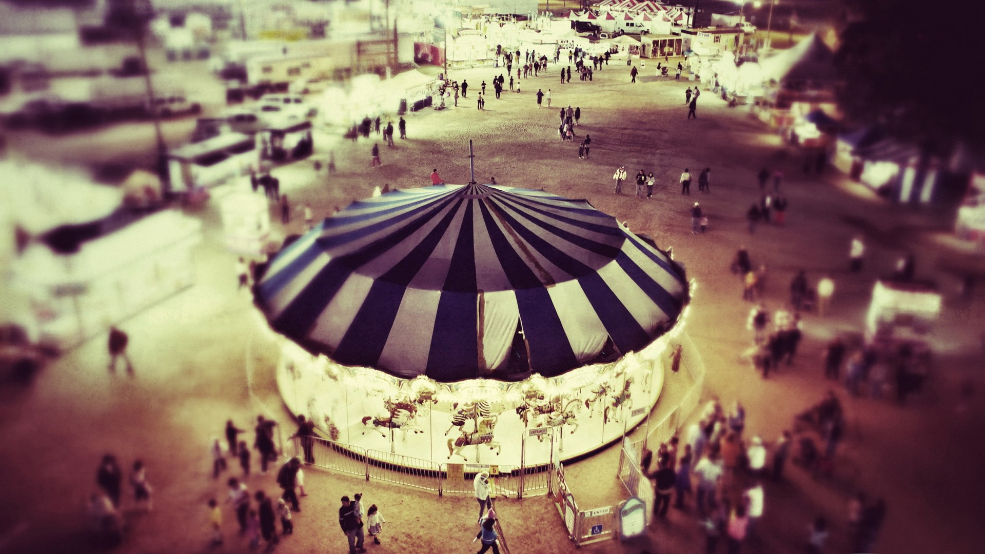 Tilt Shift Circus Wallpaper