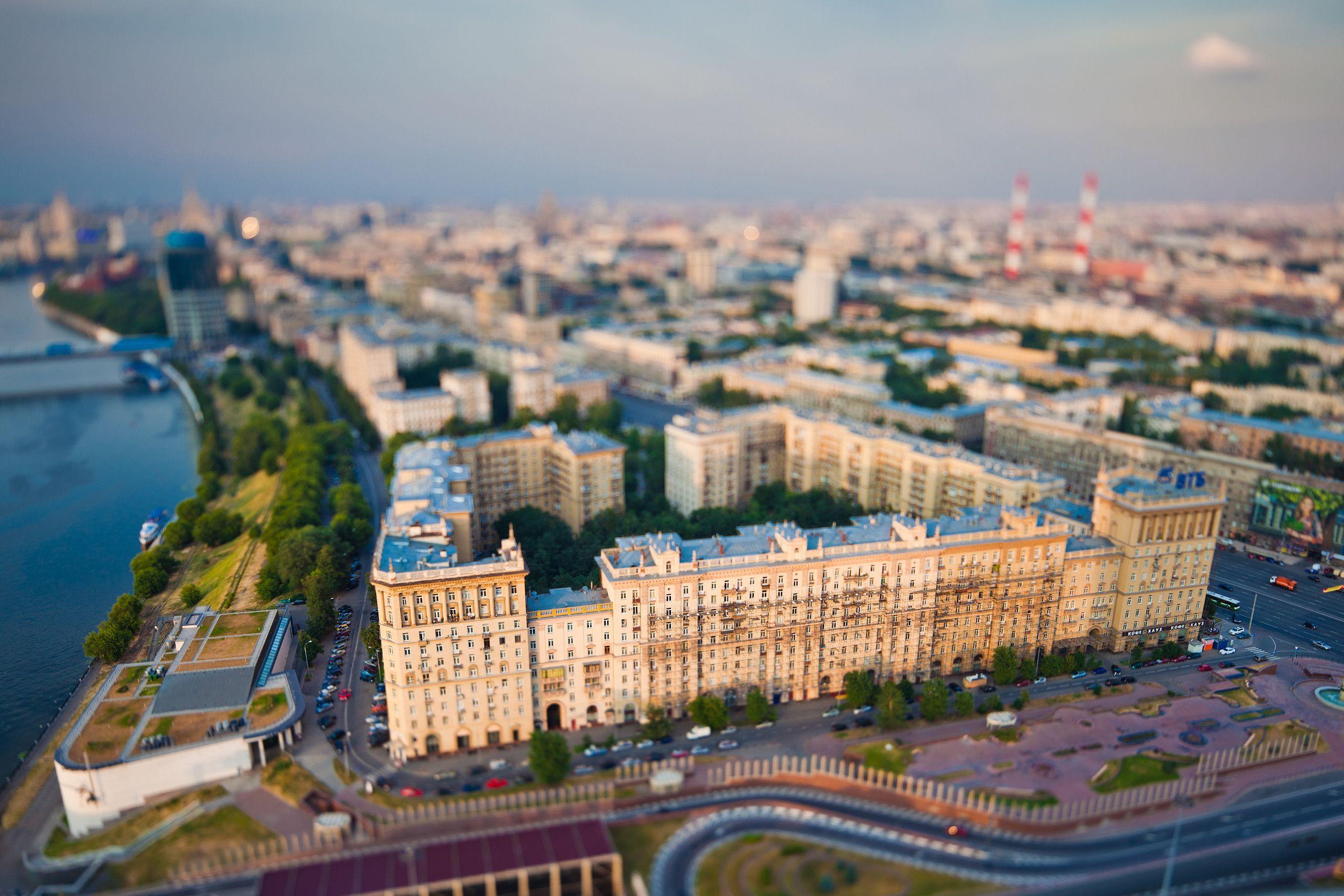 Tilt Shift Building Image