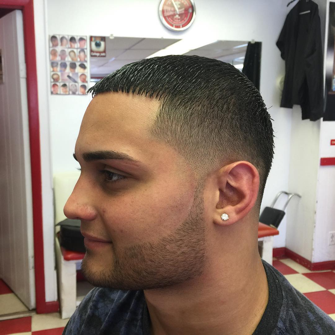 Flat Top Hair With Skin Tight Fade