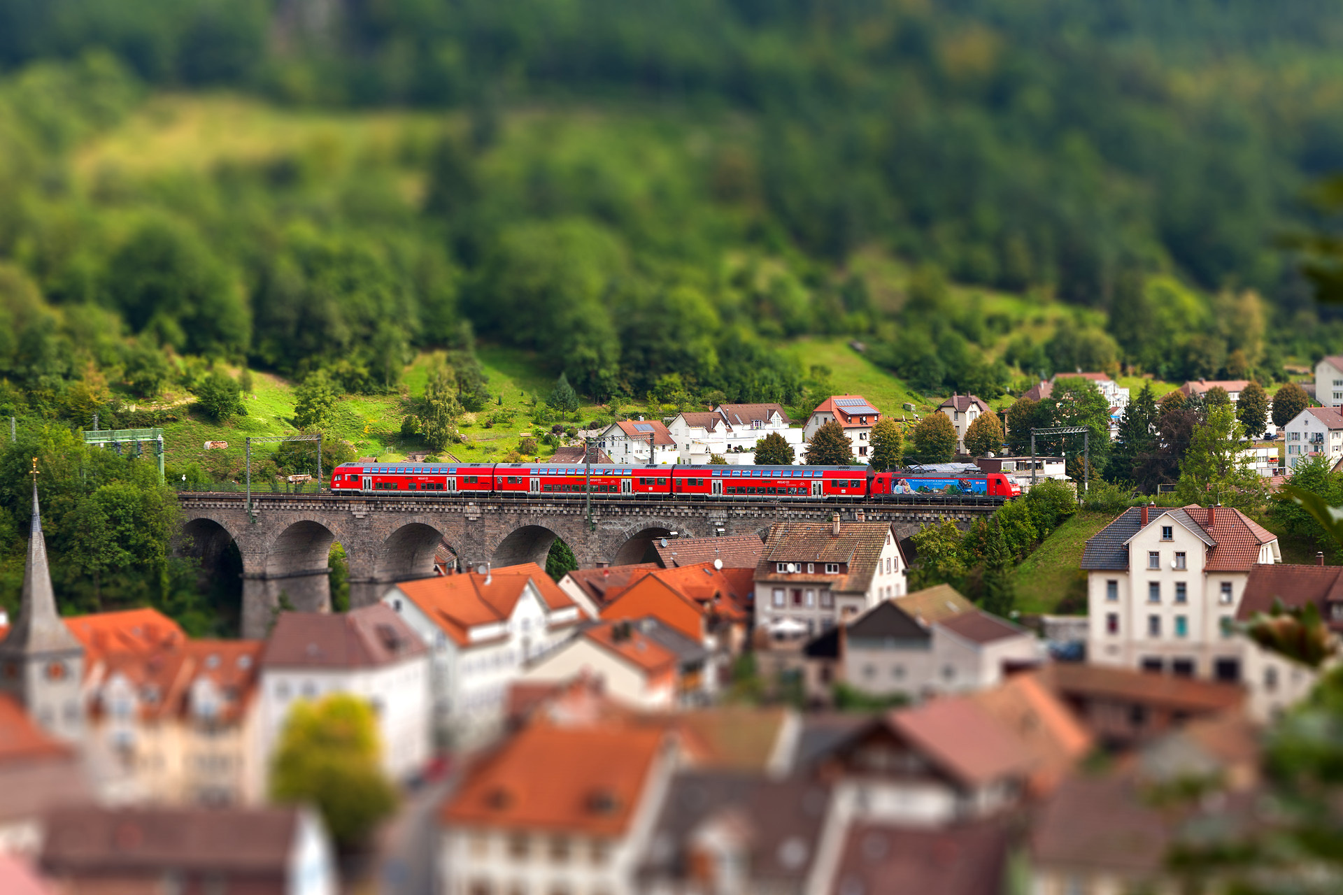 Tilt Shift Scenary Wallpaper