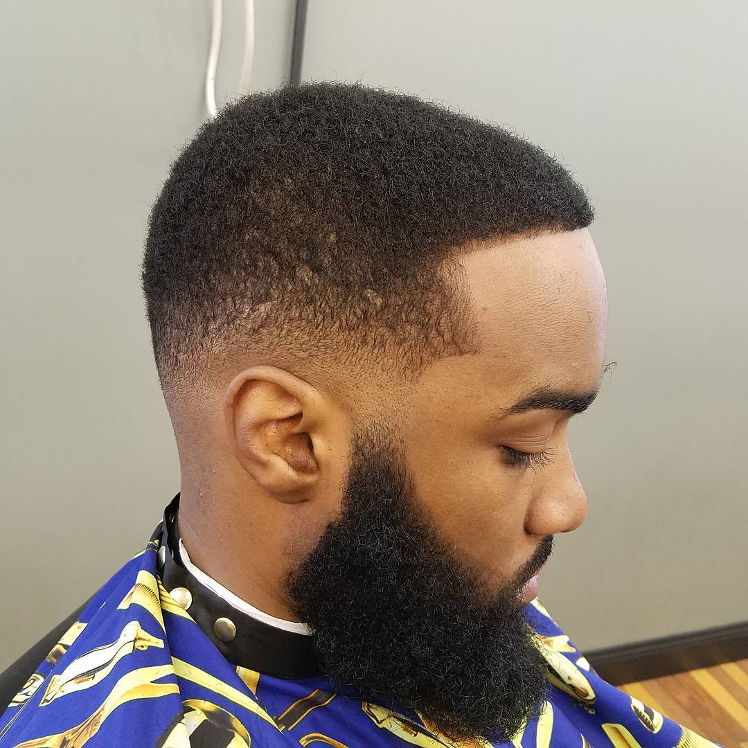 Low Skin Fade Hair Men With Beard