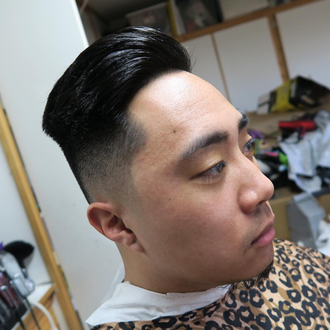 Combover Hairstyle For Low Skin Fade.