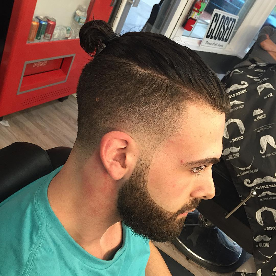Fade Hairstyle For Beard Man