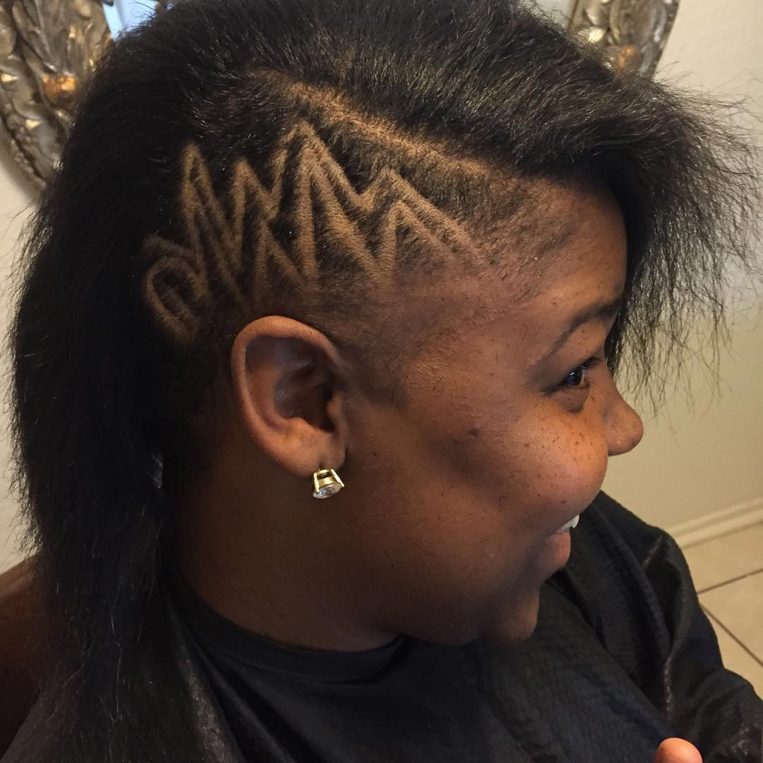 Low Designed Skin Fade Hair For Black Women