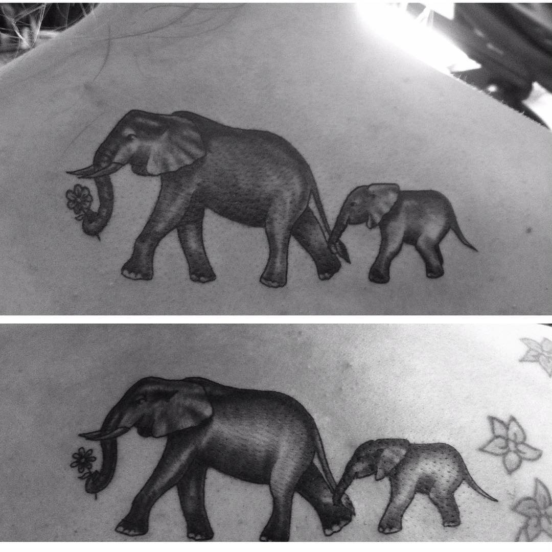 Attractive Elephant Tattoo