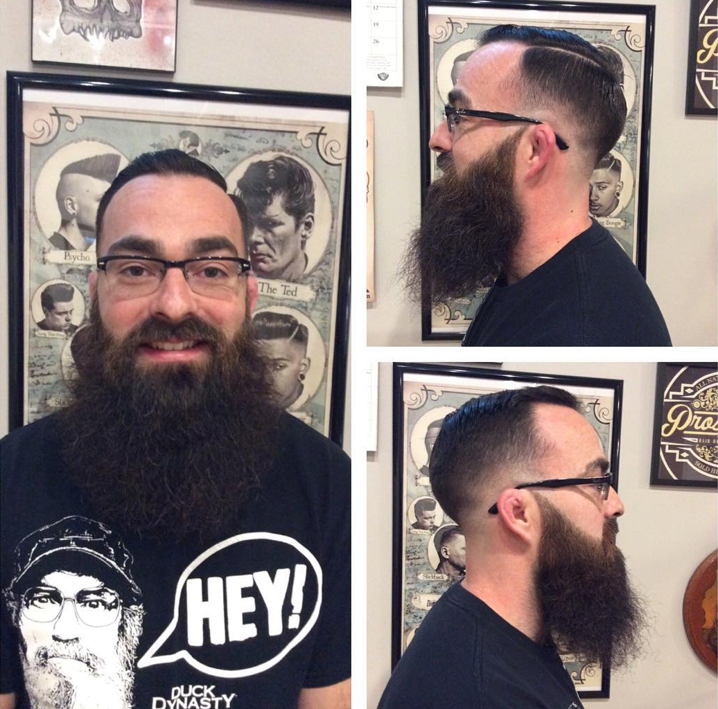 Fade Haircut Style For Long Beard Man