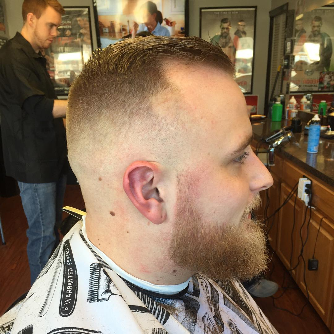 Skin Tight Hard Part Haircut.
