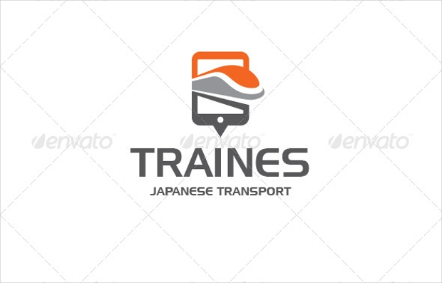 transport train logo