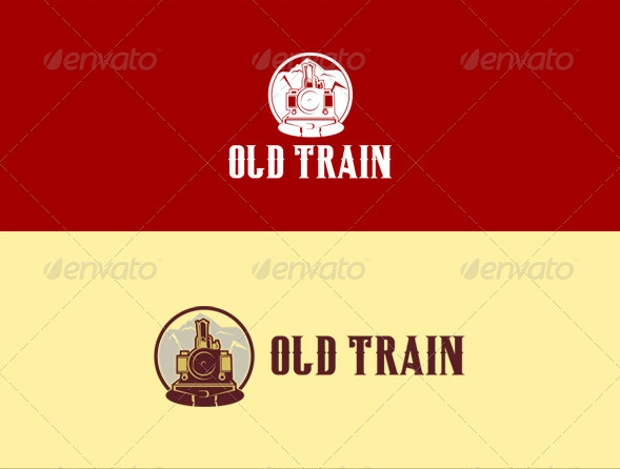 old style train logo