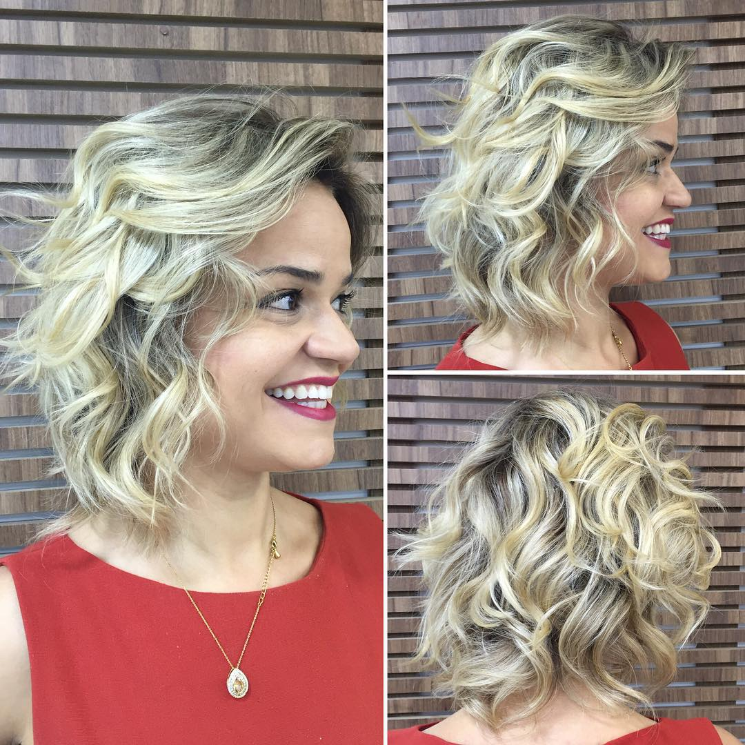 Curly Medium Length Bob Hairstyle
