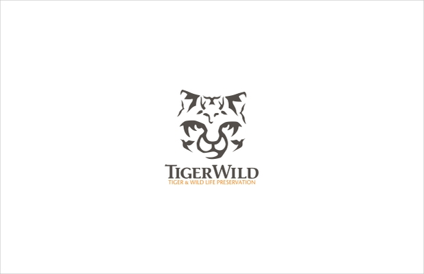 animal logo with tiger