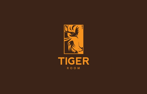 Yellow and Brown Tiger Logo