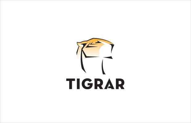 elegant tiger logo design