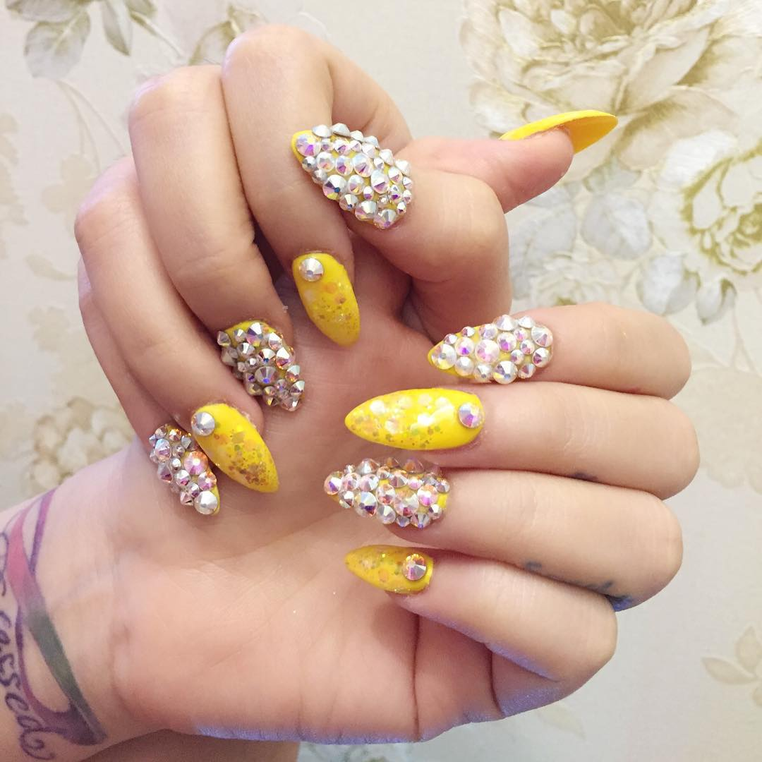 29 summer finger nail art designs ideas design trends yellow nail design  for parties prinsesfo Images - Yellow Nails Designs Images - Nail Art And Nail Design Ideas