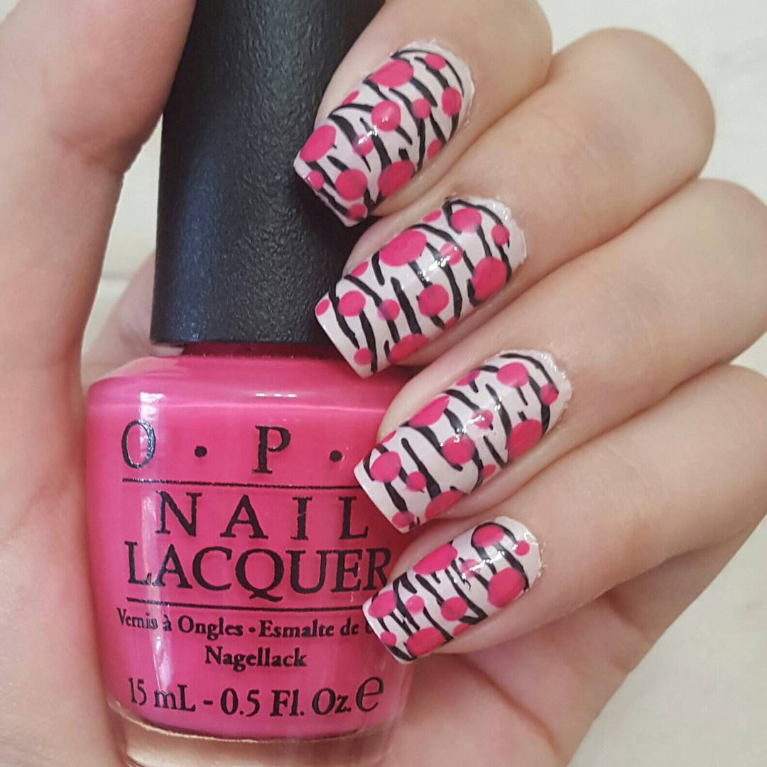 29 summer finger nail art designs ideas design trends pink and black nail design for long nails prinsesfo Image collections