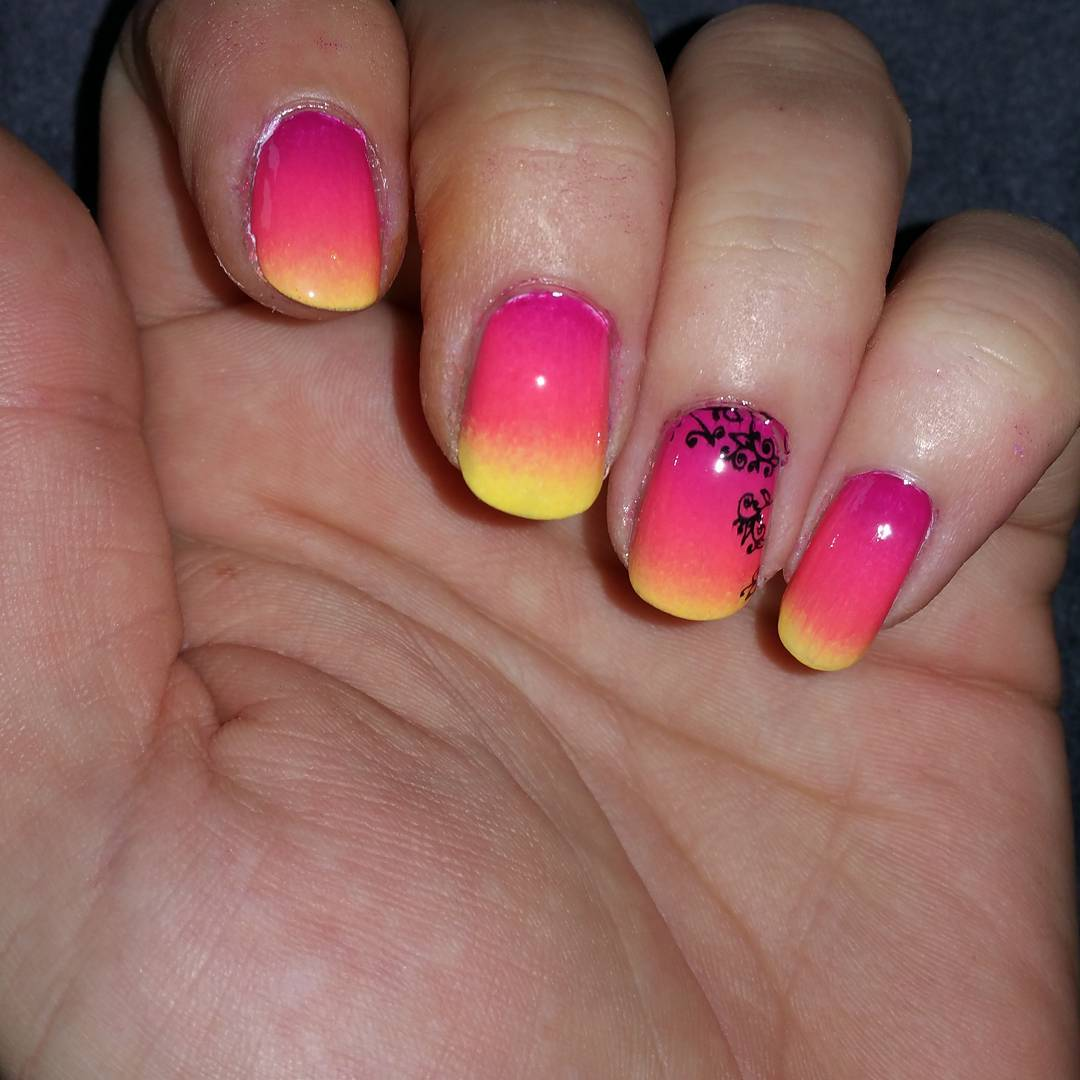 multi color nail design idea