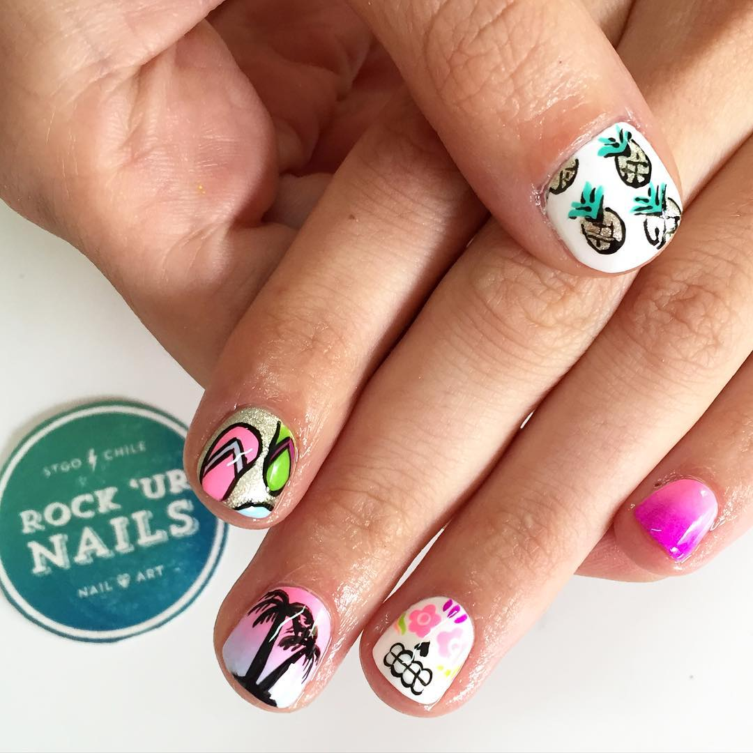 Easy summer nail art for short nails best nails 2018 29 summer finger nail art designs ideas design trends nail designs for short nails prinsesfo Choice Image