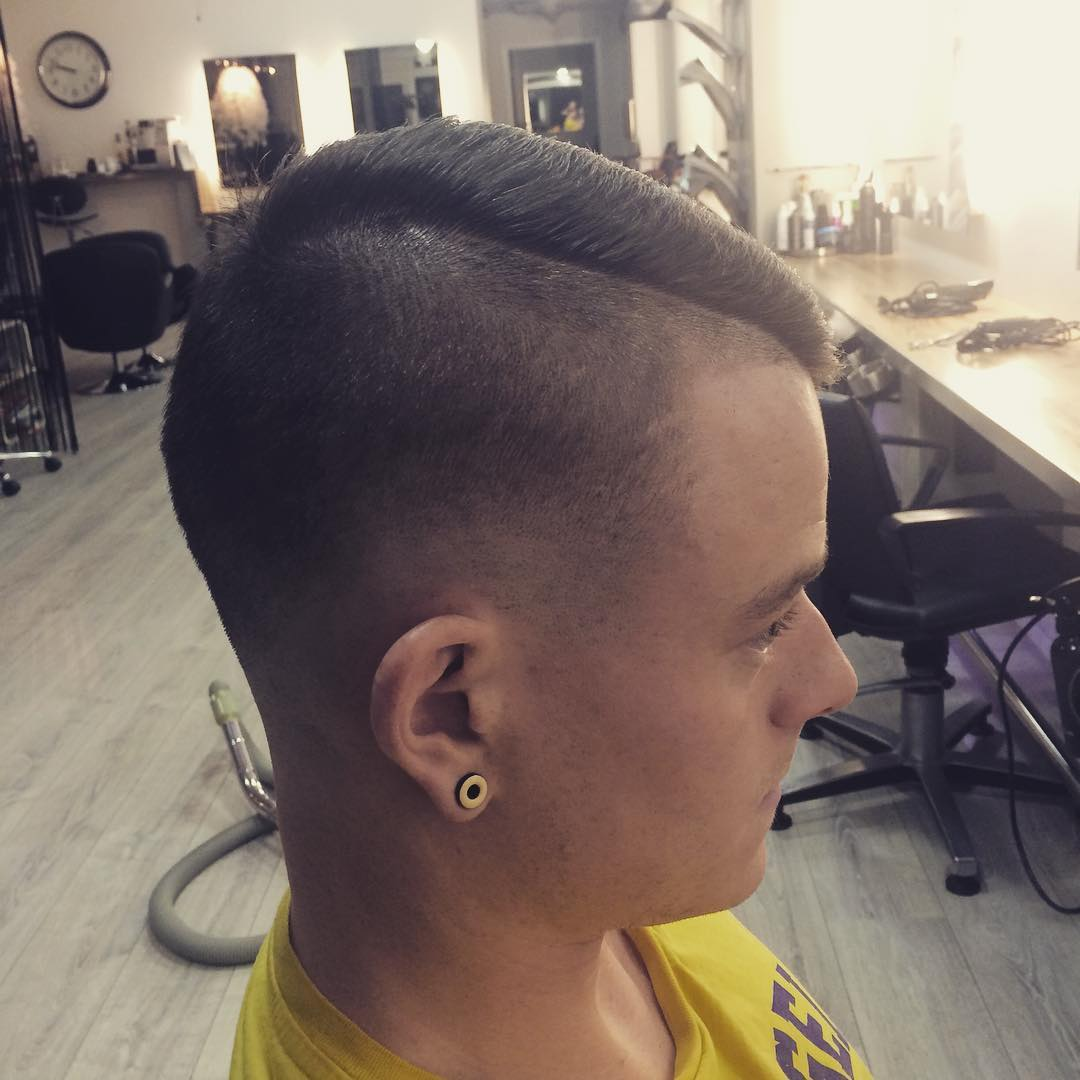 trendy fade hairstyle idea
