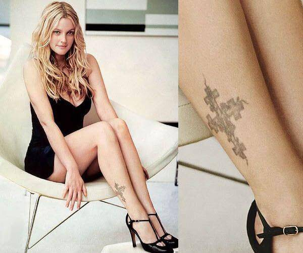 Drew Barrymore ankle tattoo