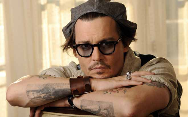 Johnny depp tattoo on arms