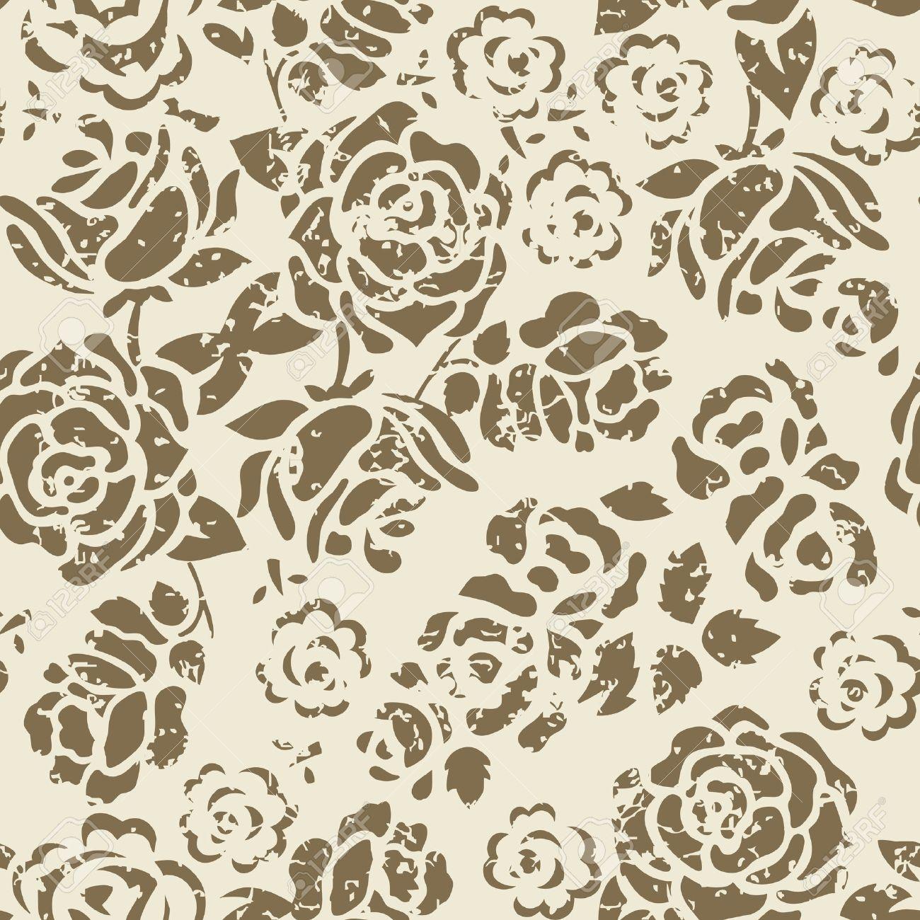 Grunge Flower Pattern