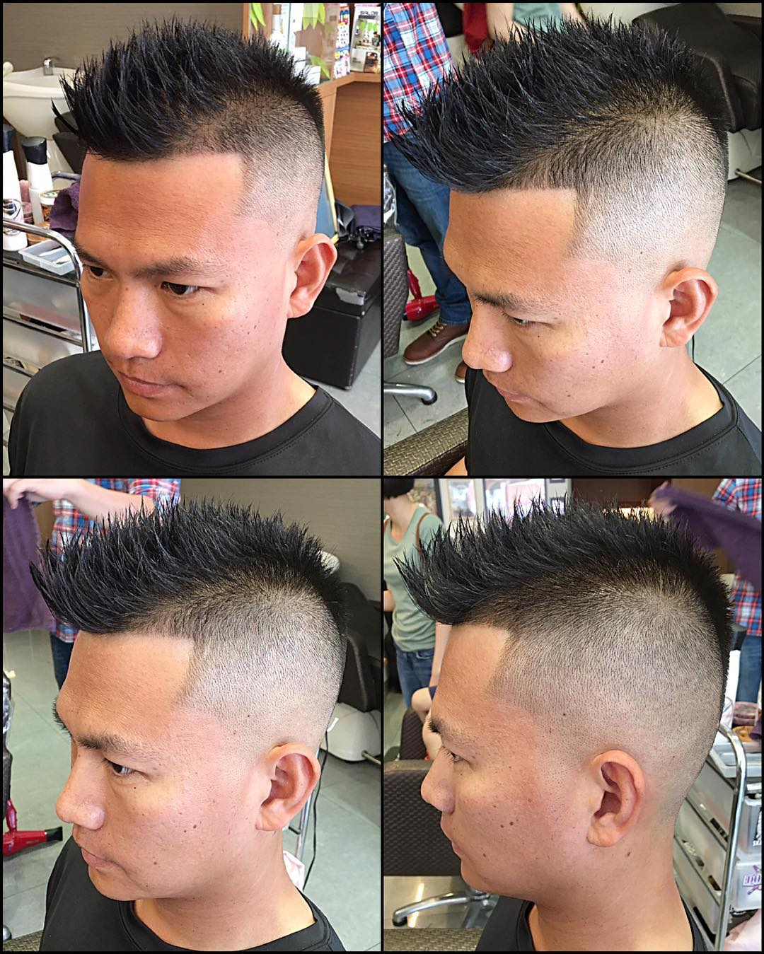 mid high fade haircut