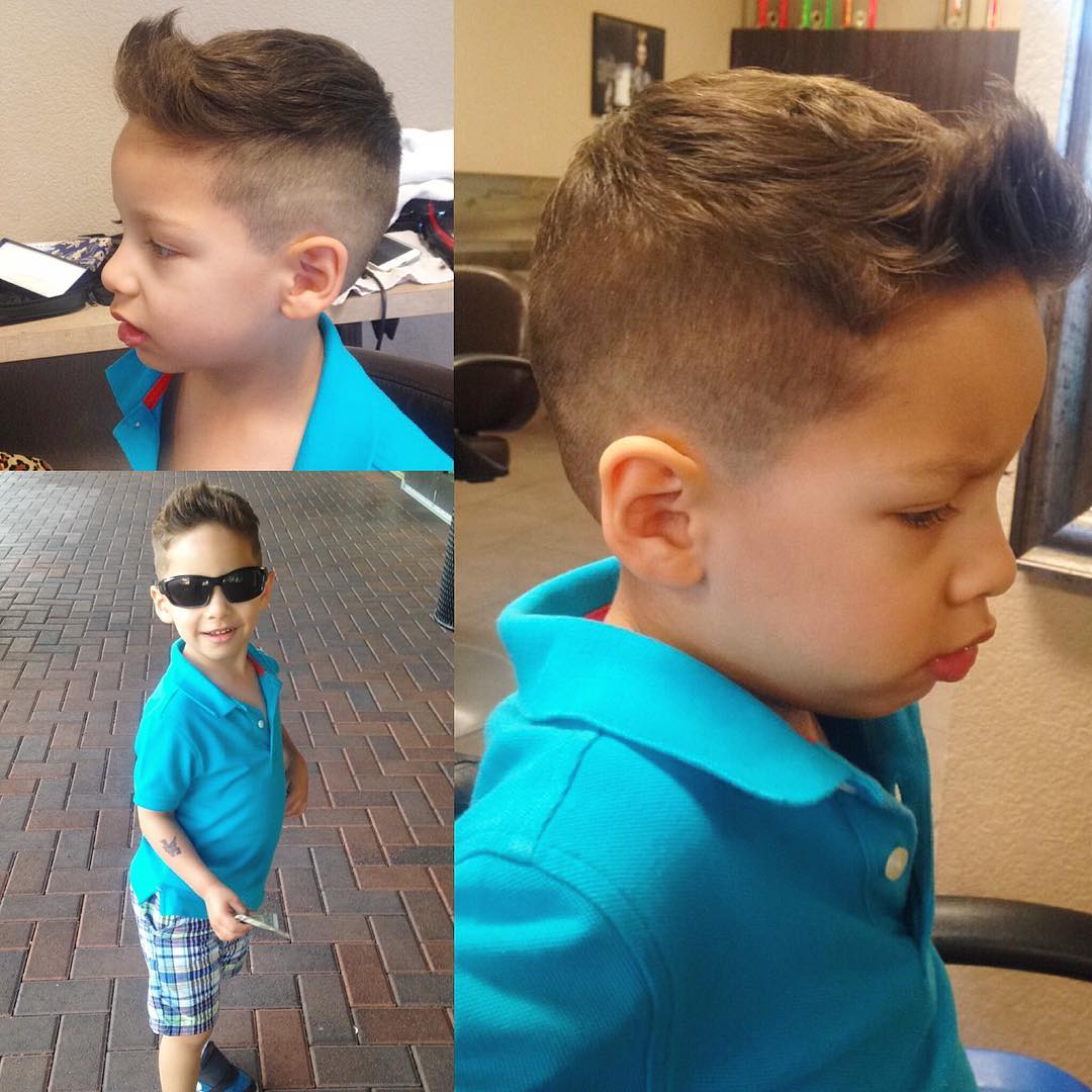 Gorgeous High Fade Haircut for Kids