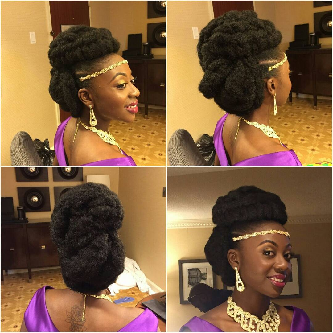 princes updo natural hair design