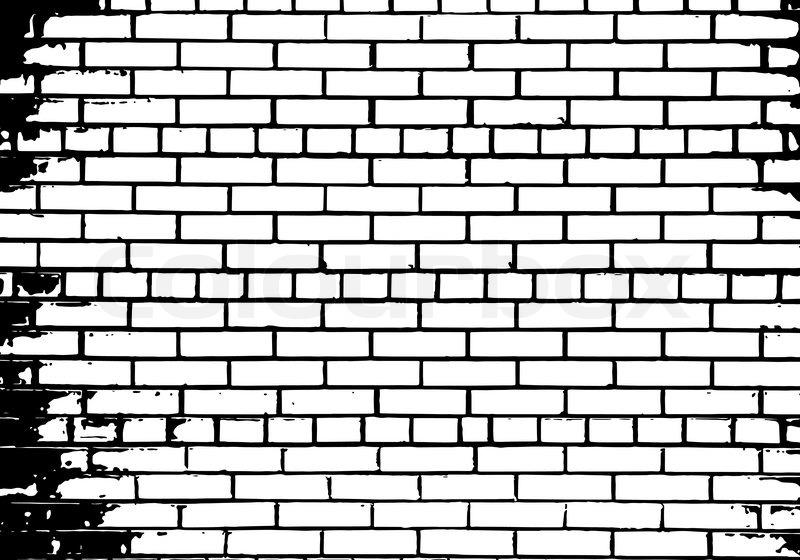 Grunge Black and White Wall Pattern