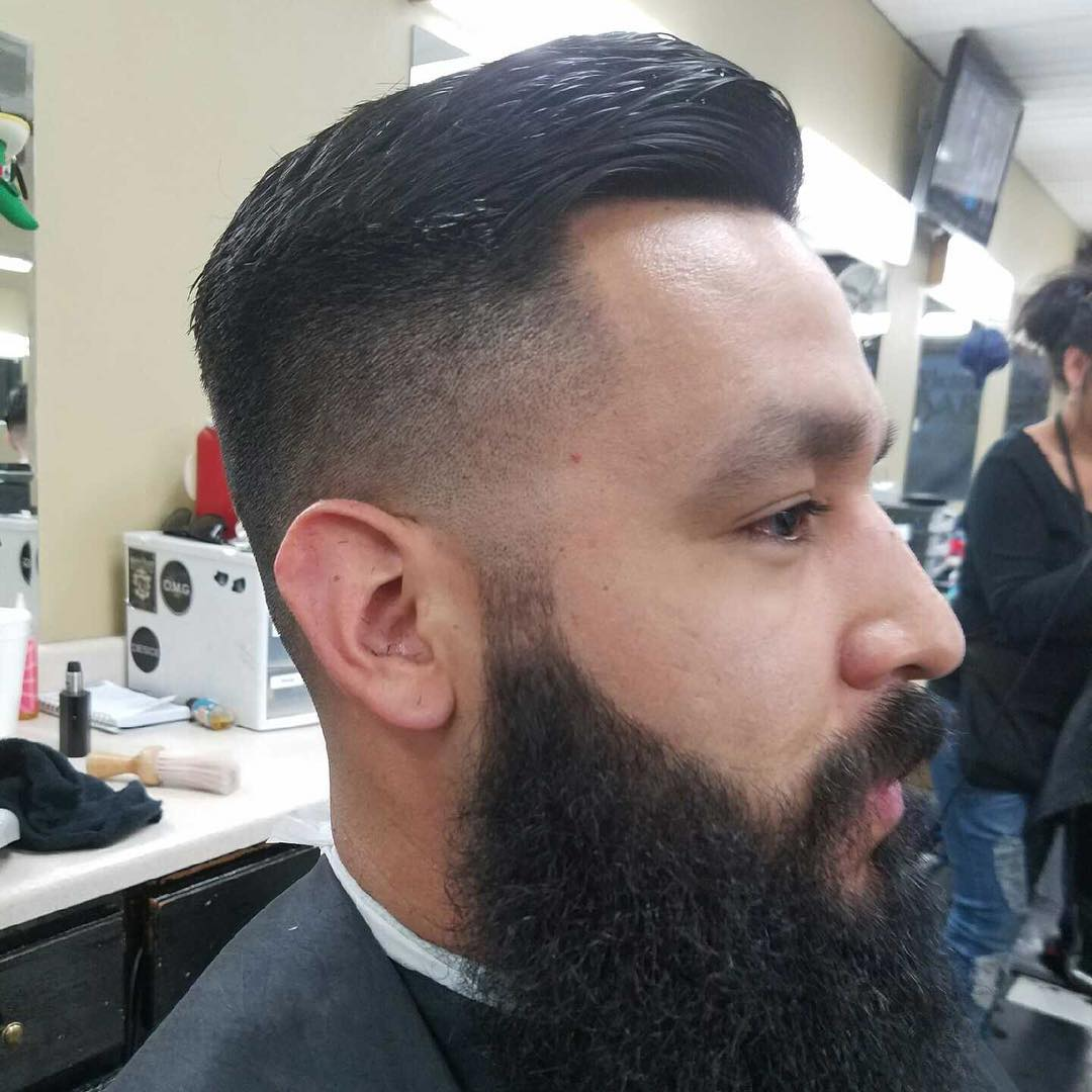 Taper Hairstyles taper haircut 7 Fohawk Taper Fade Hairstyle For Beard Men