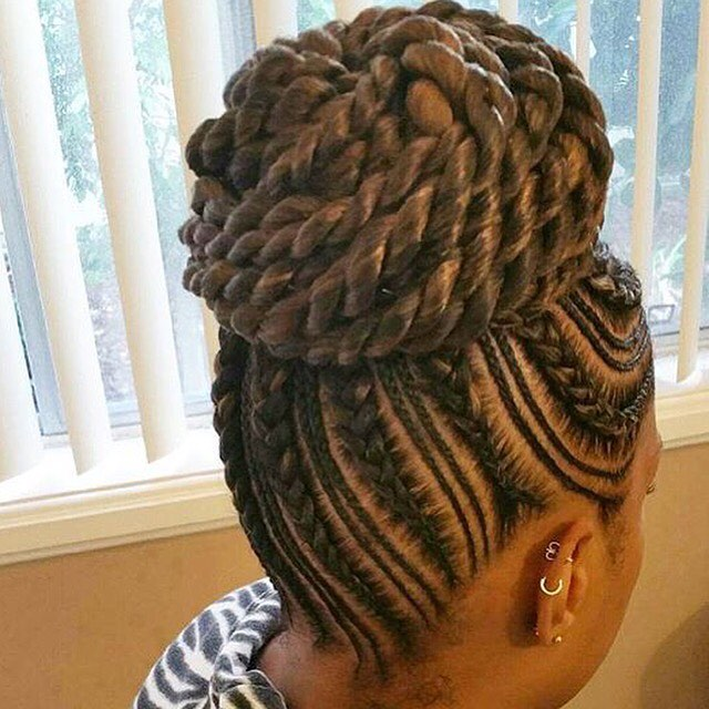Black Natural Updo Hairstyle