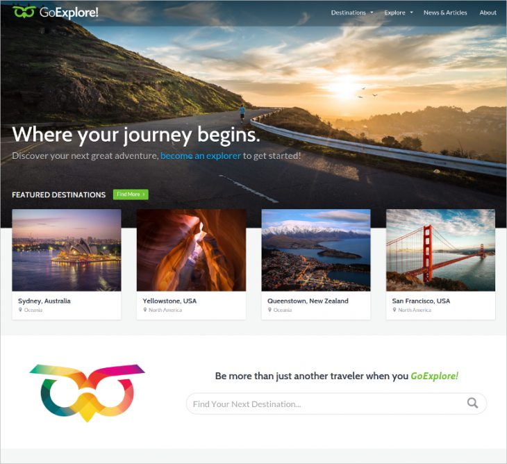 GoExplore Travel WordPress Theme