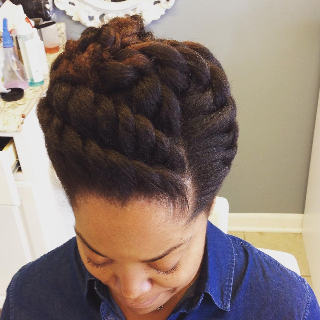 Twist Style Natyral Updo Hairstyle